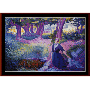 The Washerwoman - H.E. Cross cross stitch pattern by Cross Stitch Collectibles | Crafting | Cross-Stitch | Other