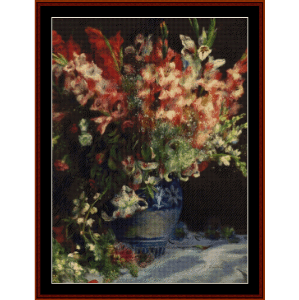 Gladiolas in a Vase, 1875 - Renoir cross stitch pattern by Cross Stitch Collectibles   Crafting   Cross-Stitch   Wall Hangings