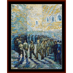 Prisoners Exercising - Van Gogh cross stitch pattern by Cross Stitch Collectibles | Crafting | Cross-Stitch | Wall Hangings