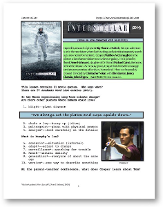interstellar, whole-movie english (esl) lesson