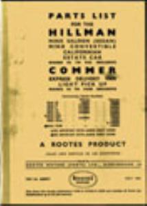 Hillman Parts List | eBooks | Reference