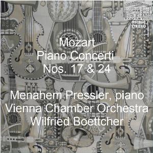 mozart: piano concerti nos. 17 & 24 - menahem pressler, piano; vienna co/wilfried boettcher