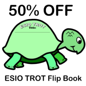 50% off esio trot flip book writing templates