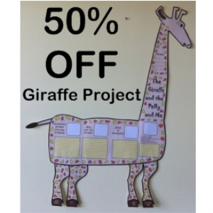 50% off giraffe and the pelly and me group project