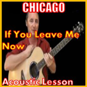 learn to play if you leave me now by chicago