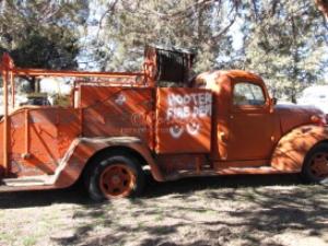 vintage water truck