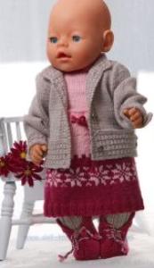 DollKnittingPatterns 0134D KAREN - Rock, Strumpfhose, Pulli, Mütze und Schuhel-(Deutsch) | Crafting | Knitting | Other