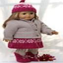 DollKnittingPattern 0134D KAREN - Skirt, Pant, Jacket, Sweater, Hat and Shoes-(English)   Crafting   Knitting   Other