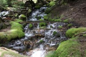 cascade mountains waterfall