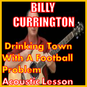 learn to play drinking town with a football problem by billy currington
