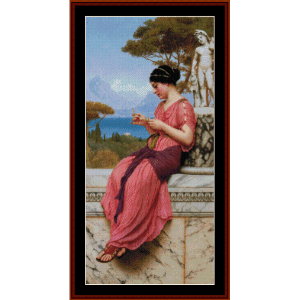The Love Letter, 1913 - Godward cross stitch pattern by Cross Stitch Collectibles | Crafting | Cross-Stitch | Wall Hangings
