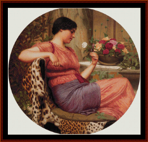 the time of roses, 1916 - godward cross stitch pattern by cross stitch collectibles