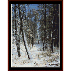 winter in a forest, 1877 - shishkin cross stitch pattern by cross stitch collectibles