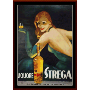 Liquore Strega - Vintage Poster cross stitch pattern by Cross Stitch Collectibles | Crafting | Cross-Stitch | Wall Hangings