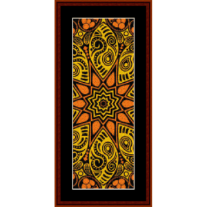 fractal 524 bookmark cross stitch pattern by cross stitch collectibles