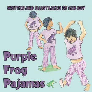 purple frog pajamas