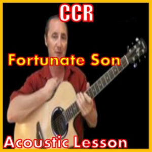 learn to play fortunate son by ccr