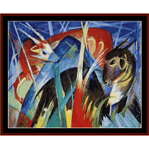 fairy animals, 1913 - franz marc cross stitch pattern by cross stitch collectibles