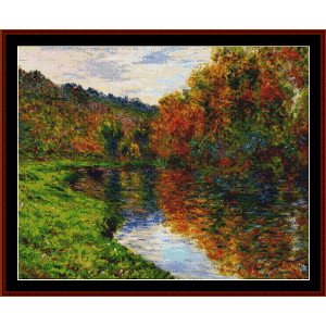 Arm of Jeufosse, Autumn - Monet cross stitch pattern by Cross Stitch Collectibles | Crafting | Cross-Stitch | Wall Hangings