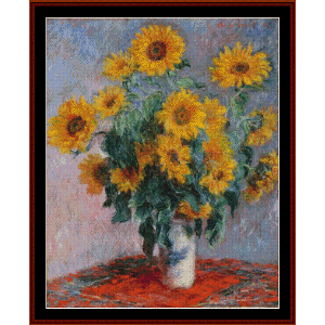 Bouquet of Sunflowers - Monet cross stitch pattern by Cross Stitch Collectibles | Crafting | Cross-Stitch | Other