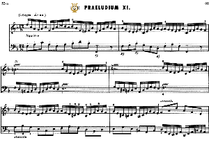 prelude and fugue no.11 in f major bwv 856, j.s.bach, well tempered clavier i, bischoff urtext ed.schirmer, a5, tablet edition, 9pp