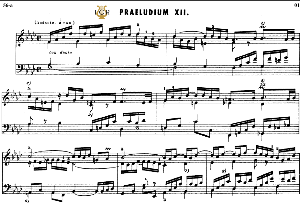prelude and fugue no.12 in f minor bwv 857, j.s.bach, well tempered clavier i, bischoff urtext ed.schirmer, a5, tablet edition, 11pp