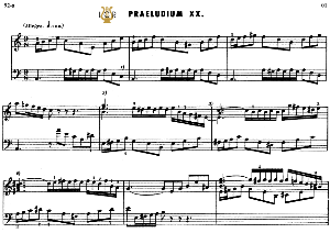 prelude and fugue no.20 in a minor bwv 865, j.s.bach, well tempered clavier i, bischoff urtext ed.schirmer, a5, tablet edition, 13pp