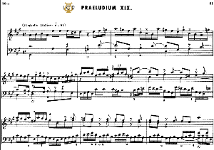 prelude and fugue no.19 in a major bwv 864,, j.s.bach,, well tempered clavier i, bischoff urtext ed.schirmer, a5, tablet edition, 11pp
