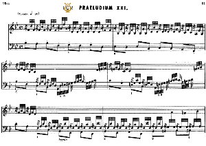 prelude and fugue no 21 in b-flat major bwv 866, j.s. bach, well tempered clavier i, bischoff urtext ed. schirmer, a5, tablet edition, 9pp