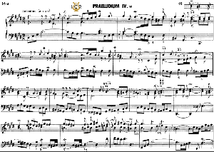 prelude and fugue no.4 in c-sharp minor bwv 873, j.s. bach,  well tempered clavier ii, bischoff urtext ed. schirmer, a5, tablet edition, 12pp