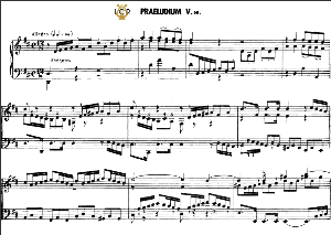 prelude and fugue no.5 in d major bwv 874, j.s. bach,  well tempered clavier ii, bischoff urtext ed. schirmer, a5, tablet edition, 11pp
