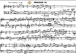 prelude and fugue no.7 in e-flat major bwv 876, j.s. bach, well tempered clavier ii, bischoff urtext ed. schirmer, a5, tablet edition, 7pp
