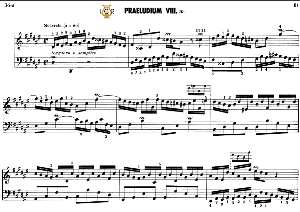 prelude and fugue no.8 in d-sharp minor bwv 877, j.s.bach,  well tempered clavier ii, bischoff urtext ed. schirmer, a5, tablet edition, 8pp