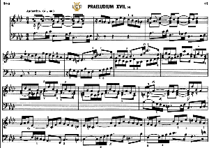 Prelude and fugue No.17 in A-Flat Major BWV 886, J.S.Bach, Well Tempered Clavier II, Bischoff Urtext Ed.Schirmer, A5, Tablet Edition, 12pp | eBooks | Sheet Music