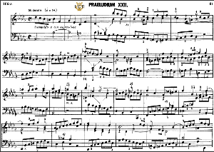 prelude and fugue no.22 in b-flat minor bwv 891,  j.s.bach, well tempered clavier ii, bischoff urtext ed.schirmer, a5, tablet edition, 11pp