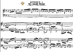 appendix 1, sketch c major prelude, j. s. bach, well tempered clavier ii, bischoff urtext ed. schirmer, a5, tablet edition, 2pp