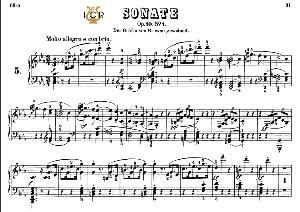 Piano Sonata No.5, Op.10 No.1 in C Major, L.V.Beethoven, Kohler-Ruthardt Rev., Ed. C.F.Peters (1880), A5, Tablet Edition, 19pp | eBooks | Sheet Music