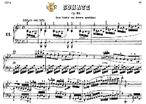 Piano Sonata No.11, Op.22 in B-Flat Major, L.V.Beethoven, Kohler-Ruthardt Rev.,Ed.C.F.Peters (1880), A5,Tablet Edition, 32pp | eBooks | Sheet Music