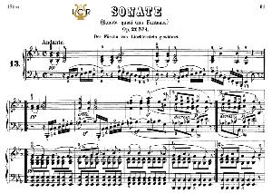 piano sonata no.13, op.27 no.1 in e-flat major, l.v.beethoven, kohler-ruthardt rev.,ed.c.f.peters (1880), a5,tablet edition, 20pp