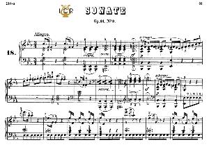 piano sonata no.18, op.31 no.3 in e-flat major, l.v.beethoven, kohler-ruthardt rev.,ed.c.f.peters (1880), a5,tablet edition, 30pp