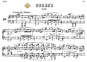 piano sonata no.22, op.54 in f major, l.v.beethoven, kohler-ruthardt rev.,ed.c.f.peters (1880), a5,tablet edition, 16pp