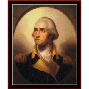 george washington fine art cross stitch pattern by cross stitch collectibles