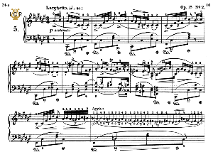 Nocturne No.5, Op.15 No.2 in F-Sharp Major, F.Chopin, Scholtz, Ed.C.F.Peters (1904), A5, Tablet Edition (Landscape), 7pp | eBooks | Sheet Music