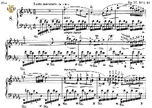Nocturne No.8, Op.27 No.2 in D-Flat Major, F.Chopin, Scholtz, Ed.C.F.Peters (1904), A5, Tablet Edition (Landscape), 9pp | eBooks | Sheet Music