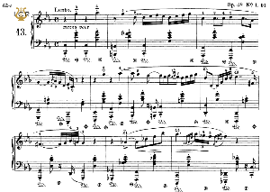 Nocturne No.13, Op.48 No.1 in C minor, F.Chopin, Scholz, Ed.C.F.Peters (1904), A5, Tablet Edition (Landscape), 10pp_ | eBooks | Sheet Music