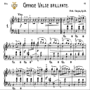 Waltz No.1, Op.18 in E-Flat Major, F.Chopin, Scholtz, Ed.C.F.Peters (1904), A5, Tablet Edition (Landscape), 18pp | eBooks | Sheet Music