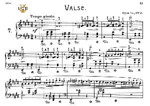 Waltz No.7, Op.64 No.2 in C-Sharp Minor, F.Chopin, Scholtz, Ed.C.F.Peters (1904), A5, Tablet Edition (Landscape), 12pp | eBooks | Sheet Music