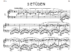 Etude B.130 No.1 in F minor, F.Chopin, Scholtz, Ed.C.F.Peters (1904), A5, Tablet Edition (Landscape), 4pp   eBooks   Sheet Music