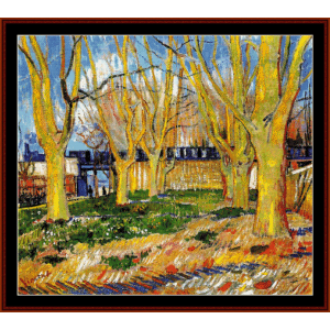 avenue of trees - van gogh cross stitch pattern by cross stitch collectibles