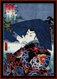 ukiyo-e 1 - asian art cross stitch pattern by cross stitch collectibles